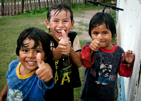Three boys from Star of Hope Argentina Happy for funding