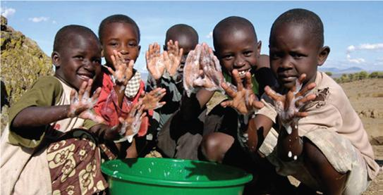 Even Boys can learn to wash hands