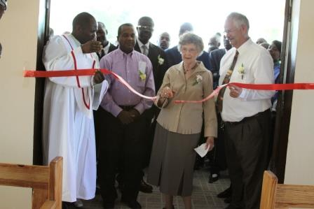 Ribbon Cutting by Bessie DeWerff From Kansas