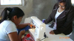 sewing 5 in mexico helping learn a new trade